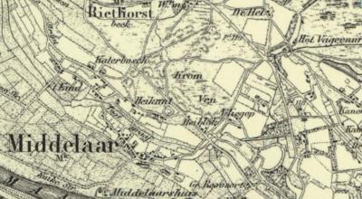 In het O van de buurtschap Heikant bij Middelaar was vanouds ook nog sprake van een handvol huizen onder de naam / kennelijke buurtschap Heiblok. Rond 1930 verdwijnt deze naam van de kaarten en wordt het integraal onderdeel van de buurtschap Heikant.