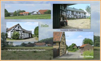 Helle, collage van buurtschapsgezichten (© Jan Dijkstra, Houten)