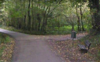 Tegenwoordig staat aan de NW kant van buurtschap Helle alleen nog deze paal-zonder-bord, op de hoek met de Hellerveldweg. Kleine moeite om een nieuw bord te bestellen en terug te hangen. Zou je denken... (© Google Maps)