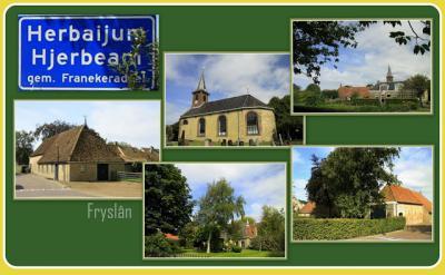 Herbaijum, collage van dorpsgezichten (© Jan Dijkstra, Houten)