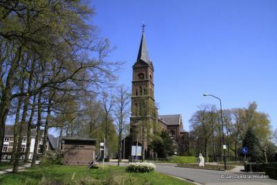 Dorpsgezicht van Hernen, met de Sint Jodocuskerk
