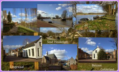 Heukelum, collage van dorpsgezichten (© Jan Dijkstra, Houten)