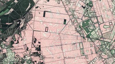 Buurtschap Heurne wordt rond 1880 voor het eerst op kaarten vermeld, onder de naam de Huurne (zoals je ziet is het Zelhemse Wolfersveen, W daarvan, dan nog niet ontgonnen). Boerderij Groote Heurne wordt echter al in 1710 voor het eerst vermeld.(©Kadaster)