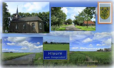 Hiaure, collage van dorpsgezichten (© Jan Dijkstra, Houten)