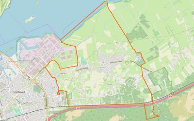 Het dorpsgebied van Hierden grenst in het Z aan de A28, in het W aan de stad Harderwijk, in het N aan het Veluwemeer (voorheen Zuiderzee) en in het O aan het dorpsgebied van Hulshorst. De dorpsgrens loopt daar strak om Landgoed De Essenburgh heen.