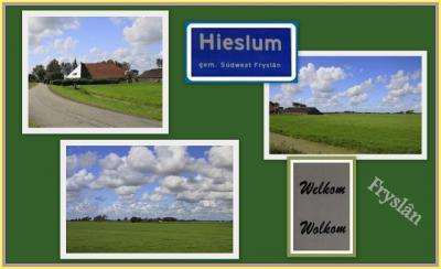 Hieslum, collage van dorpsgezichten (© Jan Dijkstra, Houten)