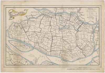 Kaart van de Hoeksche Waard anno 1917