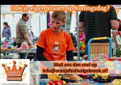 In Hoensbroek is het hele jaar door van alles te doen. Een van de vele evenementen is het Oranje Festival Gebrook op Koningsdag.