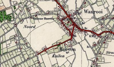 In de jaren twintig van de 20e eeuw verandert de naam van buurtschap Hoevensche Straat bij Wanroij in Hoeven. In de praktijk werd die naam al minstens vanaf 1905 gehanteerd.