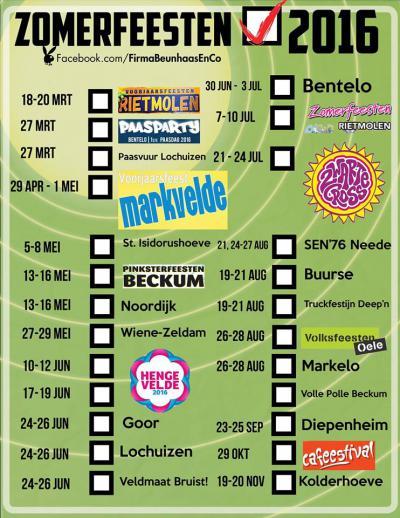In Hof van Twente e.o. houden ze wel van een feestje: bijna ieder weekend is er wel ergens een dorpsfeest in de gemeente of omgeving