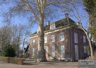 Buurtschap Hogewaard, het imposante herenhuis Warnarda en Jacobshoeve (© Jan Dijkstra, Houten)