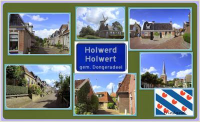 Holwerd, collage van dorpsgezichten (© Jan Dijkstra, Houten)