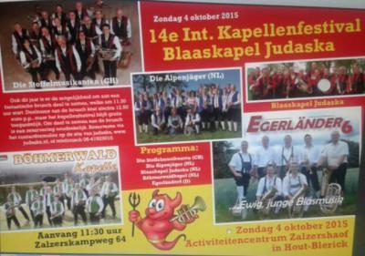 Jaarlijks organiseert Blaaskapel Judaska uit Hout-Blerick op de 1e zondag van oktober een Internationaal Blaaskapellenfestival. Hiermee wil zij de böhmisch-mährische blaasmuziek promoten in Noord-Limburg. Daarom is dit festival gratis toegankelijk.