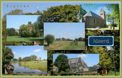 Idaerd, collage van dorpsgezichten (© Jan Dijkstra, Houten)