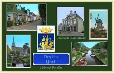 IJlst, collage van stadsgezichten (© Jan Dijkstra, Houten)