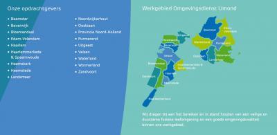'Iets' groter is de Omgevingsdienst IJmond, die vermoedelijk met die regio is gestart en geleidelijk zijn diensten heeft uitgebreid naar omliggende gemeenten en verder. Ze hebben dus o.a. ook Waterland en Zuid-Kennemerland 'erbij gepakt'.