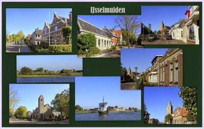IJsselmuiden, collage van dorpsgezichten (© Jan Dijkstra, Houten)