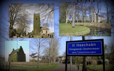 It Heechsân, collage van buurtschapsgezichten (© Jan Dijkstra, Houten)