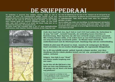 Informatiepaneel 3 aan de wandelroute door en rond buurtschap It Súd vertelt over de geschiedenis van de Skieppedraai.