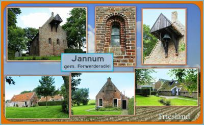 Jannum, collage van dorpsgezichten (© Jan Dijkstra, Houten)