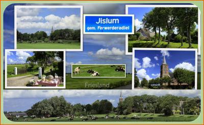 Jislum, collage van dorpsgezichten (© Jan Dijkstra, Houten)