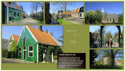 Jisp, collage van dorpsgezichten (© Jan Dijkstra, Houten)