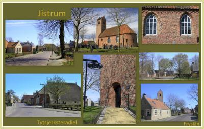 Jistrum, collage van dorpsgezichten (© Jan Dijkstra, Houten)