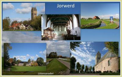 Jorwert, collage van dorpsgezichten (© Jan Dijkstra, Houten)