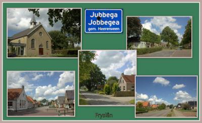 Jubbega, collage van dorpsgezichten (© Jan Dijkstra, Houten)