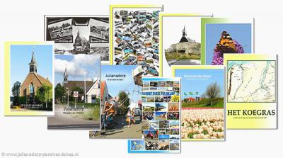 """""""Julianadorp Parel van de Kop"""" is een zeer uitvoerige site in tekst en beeld over verleden en heden van Julianadorp en polder Koegras. Zo hebben ze bijv. 10 prachtige thematische fotoalbums gemaakt waar je lekker door kunt bladeren."""
