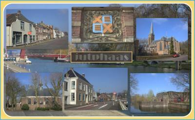 Jutphaas, collage van dorpsgezichten (© Jan Dijkstra, Houten)