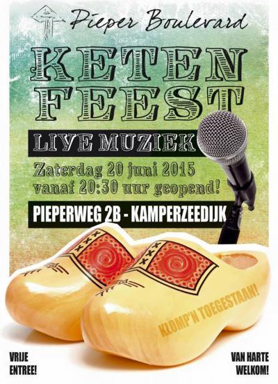 Ook het Ketenfeest (op een zaterdag in juni) is een jaarlijks evenement in Kamperzeedijk, in polder De Pieper