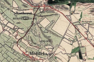 Katerbosch is al een oude buurtschap, zoals hier bijv. op een kaart uit ca. 1850 is te zien. Toch komt deze plaatsnaam vreemd genoeg nog niet voor in de Volkstelling van 1840 (in tegenstelling tot de andere buurtschappen van de gem. Mook en Middelaar).