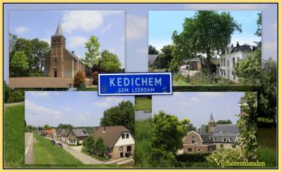 Kedichem, collage van dorpsgezichten (© Jan Dijkstra, Houten)