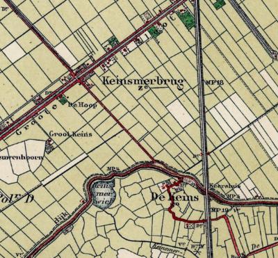 Van de 19e eeuw tot ca. 1920 staat buurtschap Keins in de atlassen met de benaming De Keins