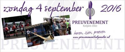 Alle zintuigen komen aan bod in Kelpen-Oler: tijdens Preuvenement Kelpen-Oler (1e zaterdag van september) kun je van alles horen, zien en proeven bij tientallen hobbyisten, kunstenaars, bedrijven, verenigingen en artiesten uit het dorp en omstreken.