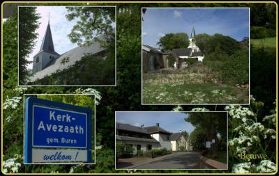 Kerk-Avezaath, collage van dorpsgezichten (© Jan Dijkstra, Houten)