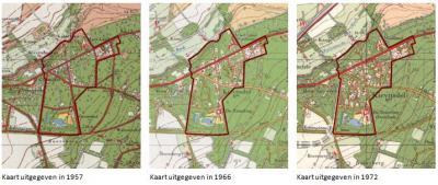 En hier is goed te zien hoe Kievitsdel zich later heeft ontwikkeld tot hoe het er vandaag de dag uitziet. (© van beide composities: gemeente Renkum)
