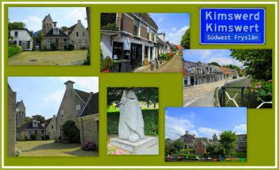 Kimswerd, collage van dorpsgezichten (© Jan Dijkstra, Houten)