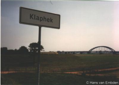 Het plaatsnaambord Klaphek is helaas ergens in de afgelopen jaren verdwenen