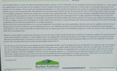 Deel 2 van het informatiepaneel m.b.t. de Stelling Koehool in de gelijknamige buurtschap
