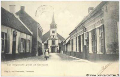 Koewacht Dorpsgezicht Belgische groet 1904