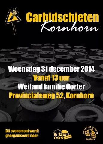 Ook het carbidschieten op oudejaarsdag is een traditie in Kornhorn