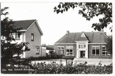 Kornhorn, de Maranathaschool is in 2015 met basisschool Het Middelpunt in Noordwijk gefuseerd tot samenwerkingsschool De Groene Borg