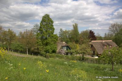 Huisjes aan de Kortenhoevendijk tussen Vianen en Lexmond