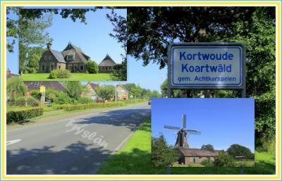 Kortwoude, collage van buurtschapsgezichten (© Jan Dijkstra, Houten)