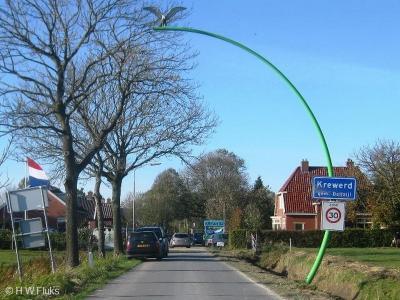 Krewerd is een dorp in de provincie Groningen, in de streek Hoogeland, gemeente Delfzijl. T/m 1989 gemeente Bierum. De gemeente Delfzijl heeft bij een aantal van haar dorpen een kunstzinnige groene plaatsnaambordpaal i.p.v. de standaard saaie grijze.