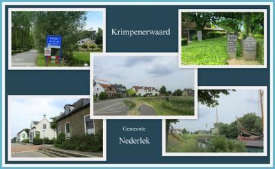 Krimpen aan de Lek, collage van dorpsgezichten (© Jan Dijkstra, Houten)