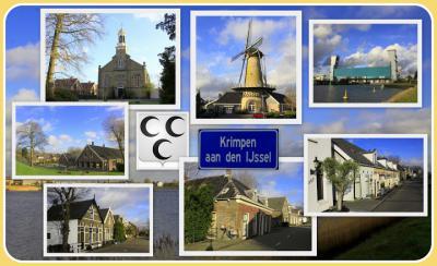 Krimpen aan den IJssel, collage van dorpsgezichten (© Jan Dijkstra, Houten)