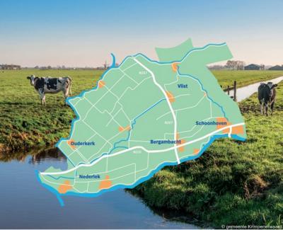 De in 2015 opgerichte gemeente Krimpenerwaard omvat bijna de hele gelijknamige streek. Alleen de gemeente Krimpen aan den IJssel, in het W, is zelfstandig gebleven.